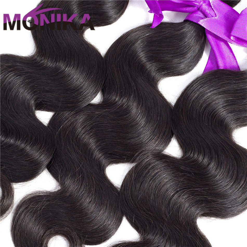 Monika Human Hair 3 Bundles With Frontal Body Wave Brazilian Hair With Frontal 134 Ear To Ear Lace Frontal Closure with Bundles (3)