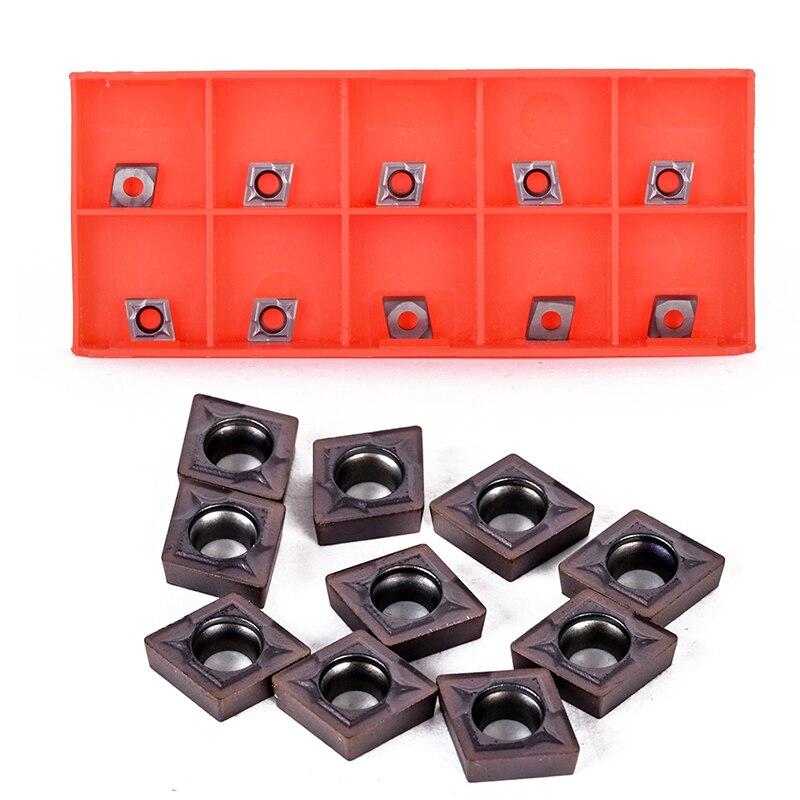 10 шт. CCMT060204 внутренний токарный инструмент расточные стержни твердосплавные вставки набор с пластиковой коробкой
