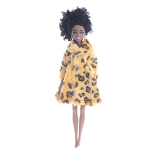 Best Deals 1pcs Handmade Clothes Outfit Flannel Leopard Animal Pattern Coat For 29cm Doll — wickedsick
