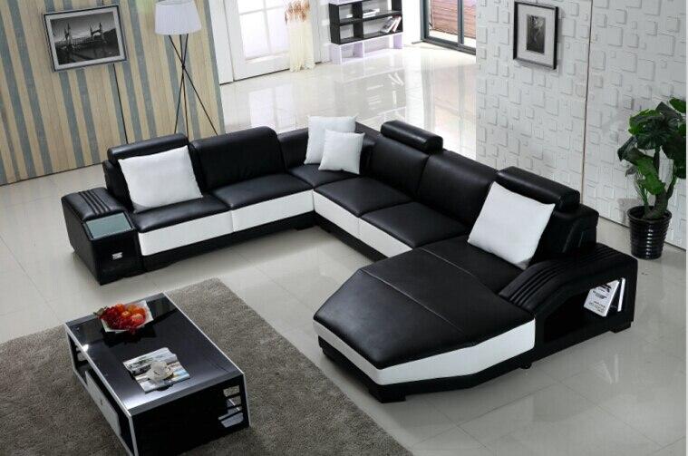 online get cheap divano ad angolo nero -aliexpress.com | alibaba group - Grande Angolo Di Cuoio Divano Marrone Colore