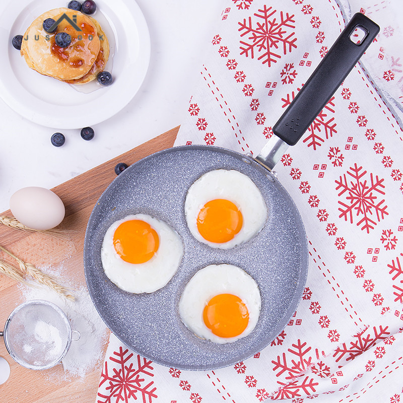 Justcook 22 CM Creative Frying Pan Breakfast Frying Eggs Pastry Pancake Maker Non-Stick No Oil-smoke Pans Gas Cooker