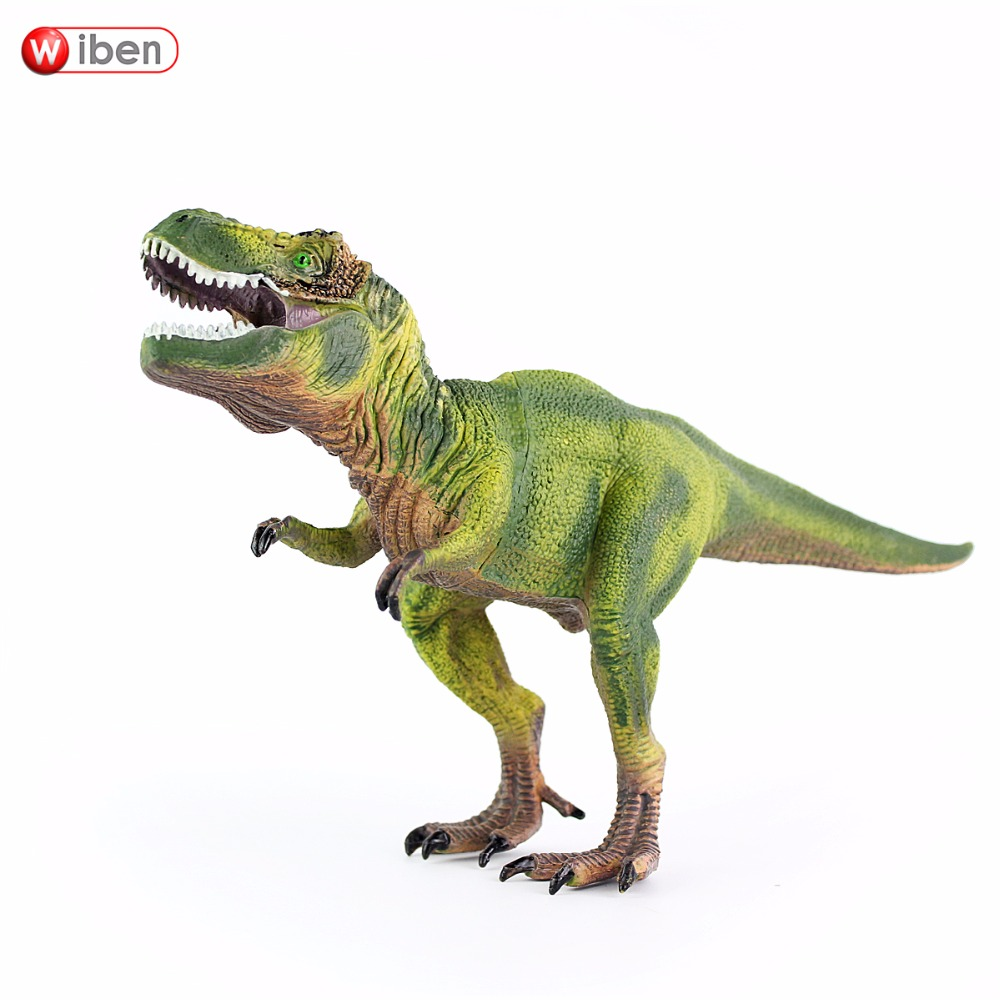 Wiben Jurassic Tyrannosaurus Rex T-Rex Dinosaur Toys Animal Model Action & Toy Figures Kids Education Toy Gifts for boy 37 cm tyrannosaurus rex with platform dinosaur mouth can open and close classic toys for boys animal model without retail box