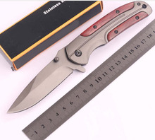 5Cr Blade  Steel + annatto Handle Hunting Camping Knives  Custom Pocket Hunting DA-43 Survival Folding Knife+Very good quality