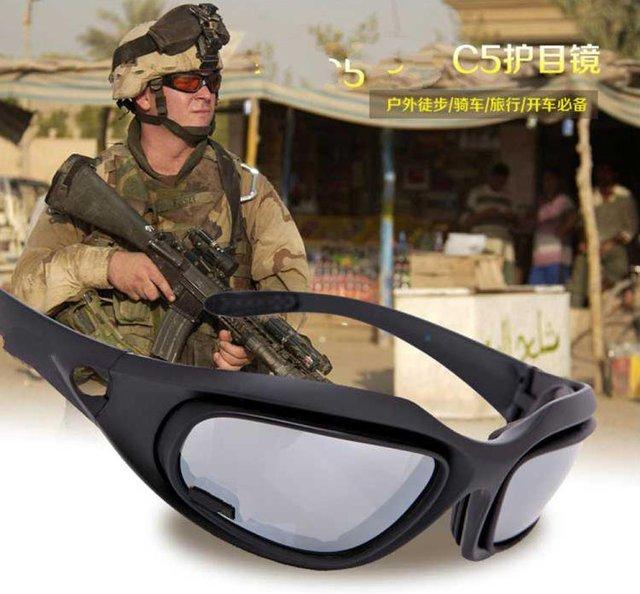 Especial auténtica versión EE.UU. C5 montar anteojos de la motocicleta a prueba de viento gafas gafas de sol de pesca
