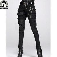 Botas de moda Estilo Europeo de Las Mujeres Pantalones Harem Negro en 100% de Alta Calidad de Material Elástico