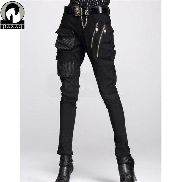 Fashionable Womens European Style Harem Pants Black Pencil Pants 100% High quality Elastic Waist Stretchable Material 2020