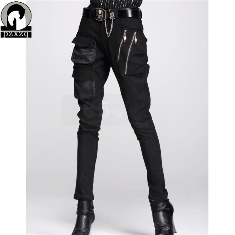Fashionable Women's European Style Harem Pants Black Pencil pants 100% High-quality Elastic Waist Stretchable Material 2019 N