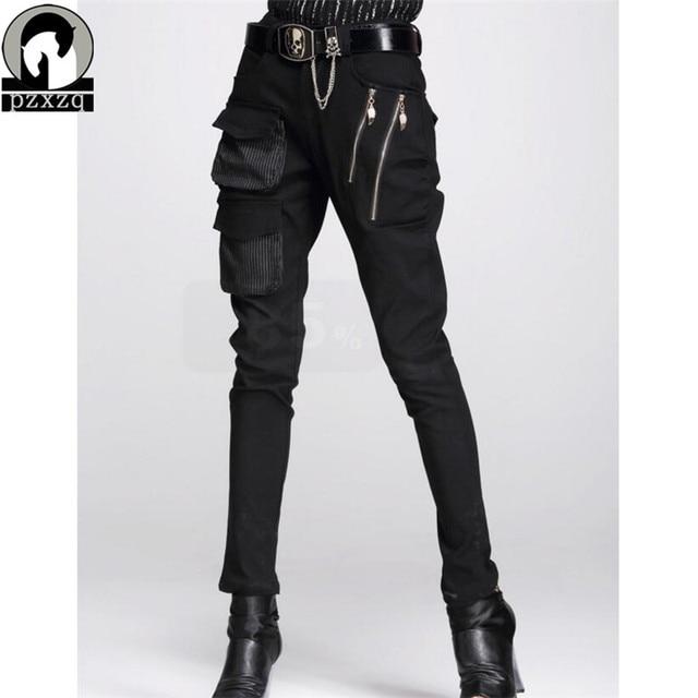 แฟชั่นผู้หญิงยุโรปสไตล์Haremกางเกงกางเกงดินสอสีดำ100% คุณภาพสูงยืดหยุ่นเอวยืดวัสดุ2020