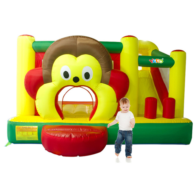 YARD Free Shipping In Stock Cartoon Monkey Inflatable Slide Bouncer Bouncy Castle Jumper Combo Funny Exercise Room For Sale