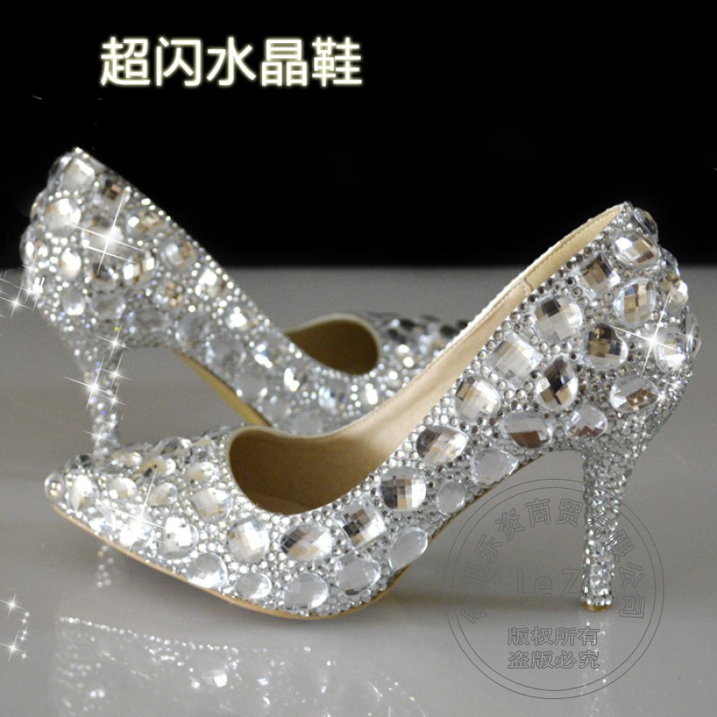 Bling Rhinestone New High Quality Cement Crystal Stilletos Wedding For Dress font b Women b font