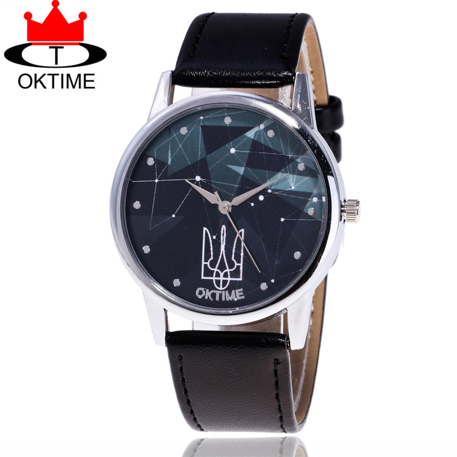 OKTIME Brand Fashion Women Leather Galaxy Watch Vintage  Zodiac Watch Lady Quartz Watches Watched Relogio Feminino Gift KT03 робот zodiac ov3400