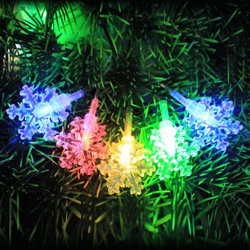 Romantische Dekorative Eis Schnee im freien Girlande String Lichter ...
