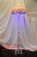wedding candy bar decor wedding crystal centerpiece acrylic beads wedding flower holder celebration party home table decoration