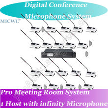 MICWL 2 President 40 Delegates Desk Unit Professional Wireless Microphone Digital Conference System