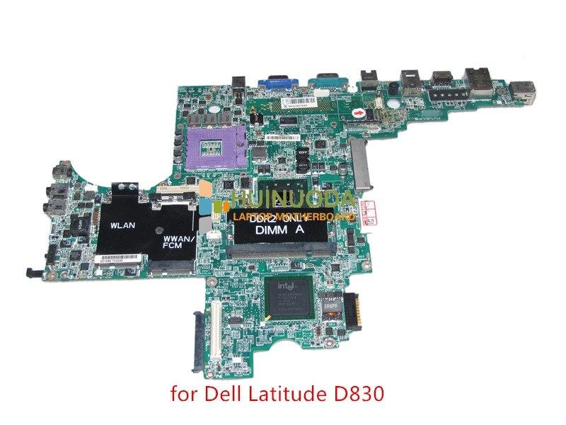 DA0JM7MB8E0 REV E PWB DY483 motherboard for dell Latitude D830 laptop main board CN-0MY199 MY199 965gm DDR2 Free CPU