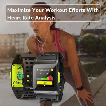 Montre De Fitness Bluetooth | 11.11 Makibes BR1 GPS Hommes Femmes Montres Intelligentes Bluetooth Strava ECG PPG Montre-bracelet Fitness Tracker Appareils Portables Bracelet Intelligent
