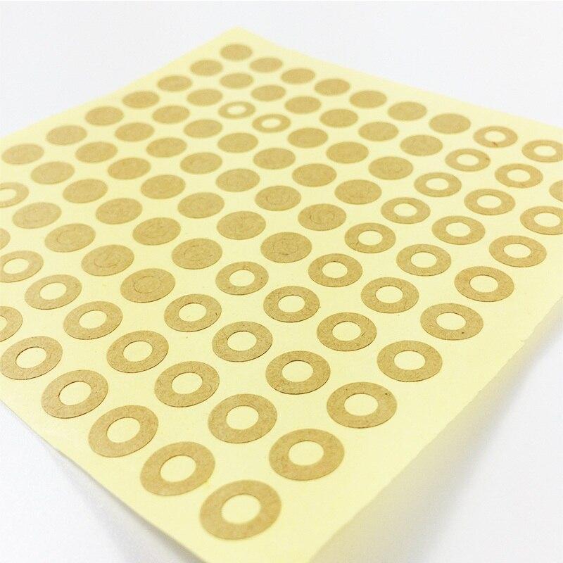 ¡Novedad de 500! Lote de pegatinas de etiqueta con anillo Kraft Estilo Vintage para regalo, pegatinas de anillo para etiquetas hechas a mano, venta al por menor multifuncional DIY