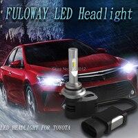 2X רכב LED פנסי 9012 H4 Hi-Lo Beam H1 H11 H8 H9 H7 9005 9006 9600LM 60 W עבור טויוטה קאמרי קורולה RAV4 פראדו איש הנצח