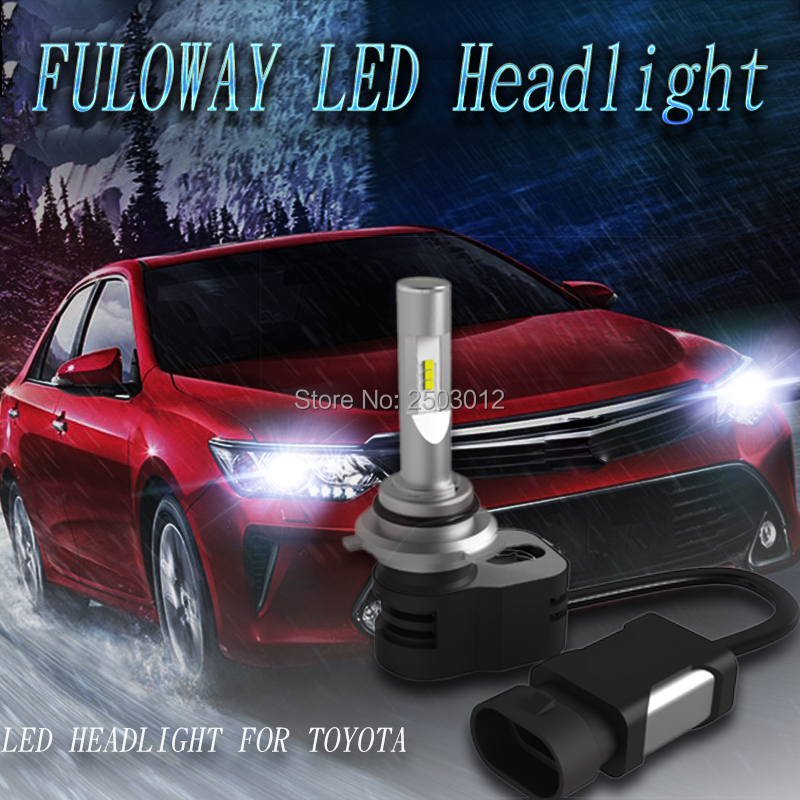 2X Car LED Headlights 9012 H4 Hi-Lo Beam H1 H11 H8 H9 H7 9005 9006 9600LM 60W For Toyota Camry Corolla RAV4 Prado Highlander auxito h7 h4 9003 9005 9006 h11 car cob led headlights for toyota corolla avensis yaris rav4 auris hilux prius camry supra verso