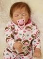 22 inch 55cm Silicone baby reborn dolls, lifelike doll reborn babies toys Cute sleep baby girl gifts bonecas Free Shipping