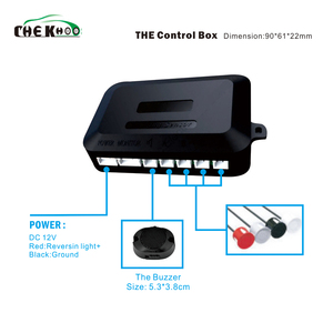 Image 2 - Parkeer Sensor Auto Parktronic Buzzer Met 4 Sensor Reverse Backup Voertuig Radar Monitor Detector System Backlight Display
