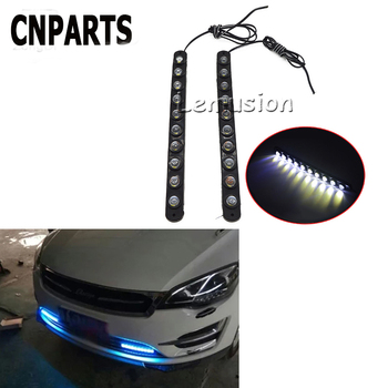 CNPARTS Car Waterproof Eagle Eye DRL Running Fog Lamp 10 LED Lights For Citroen C5 C4 Mini Cooper Opel Astra H G J Vectra C Saab image
