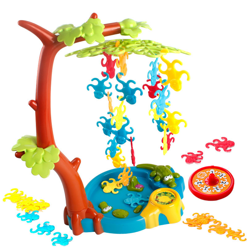 Monkey Swing Tree board game for  funny party games Parentchild interactive Develop intelligence game toy children educational penguin trap interactive ice breaker party game