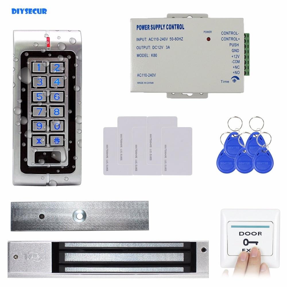 DIYSECUR RFID водонепроницаемый двери Система контроля доступа комплект + 280 кг магнитный замок ID карты