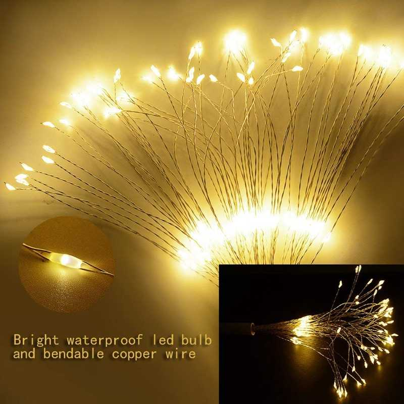 solar LED Light Waterproof LED Copper Wire 100 led String Firework Holiday Outdoor led strip Christmas Party Wedding Decoration
