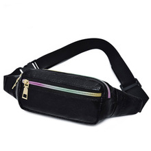 цены New fashion waist bag for women in 2019 fashion chest bag Pu waist bag simple leisure outdoor travel bag