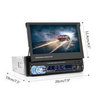 Alternative CD MP5 Card Player 7 Inch Retractable Screen Car Multimedia Player Car MP4 Player Bluetooth Call MP3 Radio Player