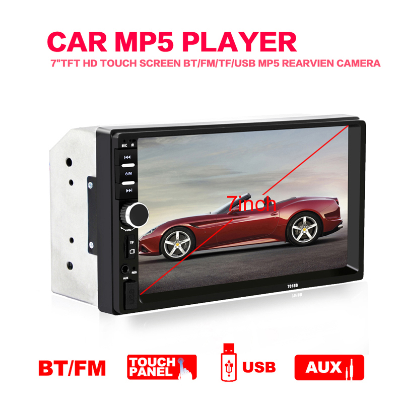 2DIN 7 High Definition In Dash 1080P Car LCD Touch Screen Radio MP3 MP5 Player Bluetooth Handsfree +Rearview Camera Autoradio 7 2din in dash car radio mp5 player digital touch screen bluetooth handsfree usb tf fm dvr aux input car charge gps rear camera