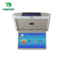 KUNFINE 11.6 INCH Car Roof Monitor LCD Flip Down Screen Overhead Multimedia Video Ceiling Roof mount Display