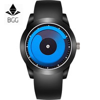 BGG Brand Men S Watch Fashion Students Creative Casual Sport Wristwatch Male Silicone Quartz Clock Hours