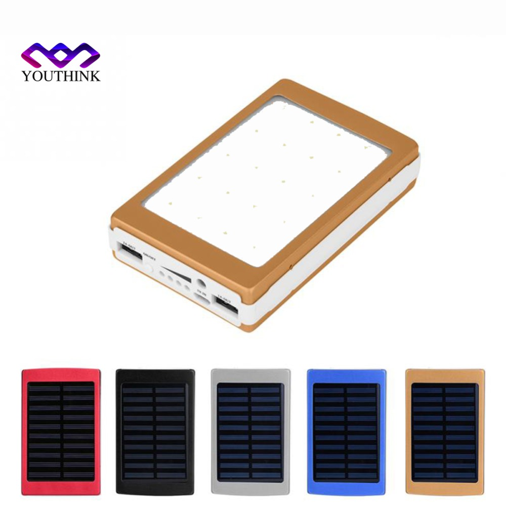 no Battery not Included 2*706090 Solar Power Bank Case Portable External Battery Charger For Smart Phone Battery 2*606090