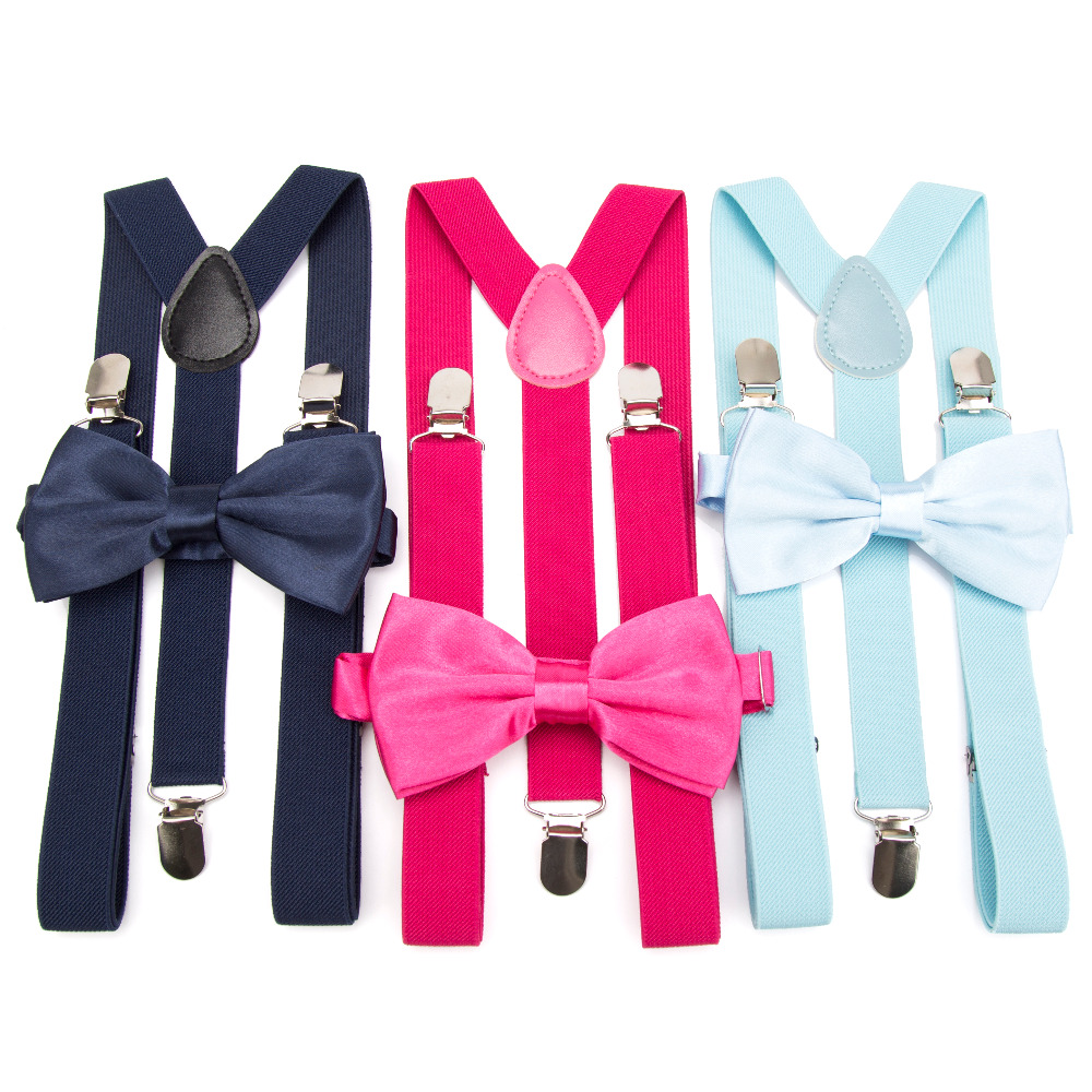 Suspenders Bow Tie Set Men Fashion Suspensorio for Man Boy Women Bowtie Braces Trousers Tirantes Wedding Leisure Shirt Stays(China)