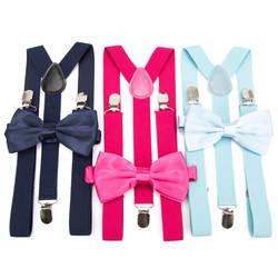 Подтяжки галстук бабочка комплект для мужчин Мода Suspensorio для мальчика женщин галстук бабочкой подтяжки мотобрюки Tirantes Свадебный отдых