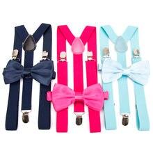 10a74853e Tirantes de corbata de lazo de los hombres de moda Suspensorio para hombre  niño mujeres pajarita Tirantes pantalones Tirantes de.