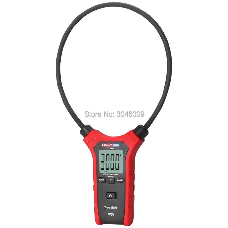 UNI T UT281C vrai RMS AC 3000A ampèremètre de serrage Flexible, rétro éclairage de Table polyvalent/mise hors tension automatique - 3