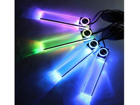 Colorful 4 LED Car Interior Decorative Floor Dash Light Lamp Cigarette Lighter QPL430