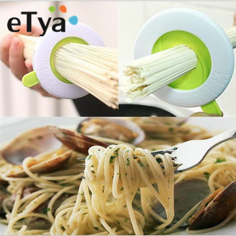 eTya Compact Spaghetti Measures Kitchen Gadgets Noodle Measuring Limiter Tools Adjustable Portion Guide for One to Four Servings image