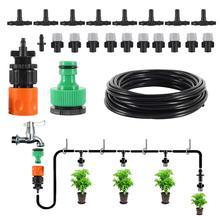 Novo atualizado sistema de resfriamento nebulização de água 10m 10 pcs névoa sprinkler bocal sprinkler kits de água sistema ao ar livre ferramenta de jardim