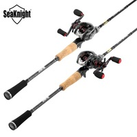 2018 New SeaKnight Rod Combo Falcon 2.1M Casting Lure Rod Carbon M ML VIPER Fishing Reel 7.5 Portable Telescopic Fishing Rod Set