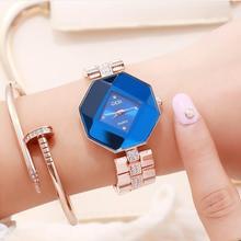 Brand fashion ladies jewelry watch rhinestone rose gold stee