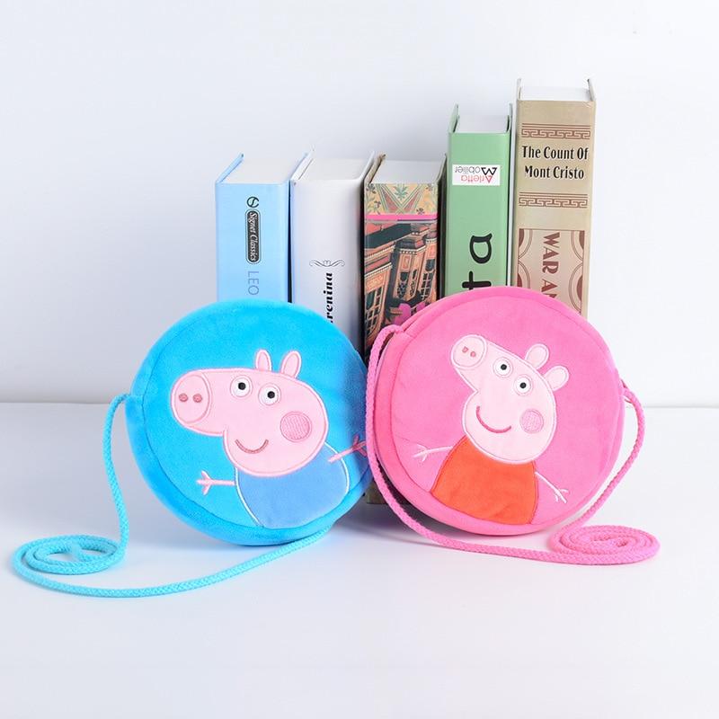 Genuine Peppa Pig George Pig Plush Toys Kids Girls Boys Kawaii Kindergarten Bag Backpack Wallet Money School Bag Phone Bag Dolls 5