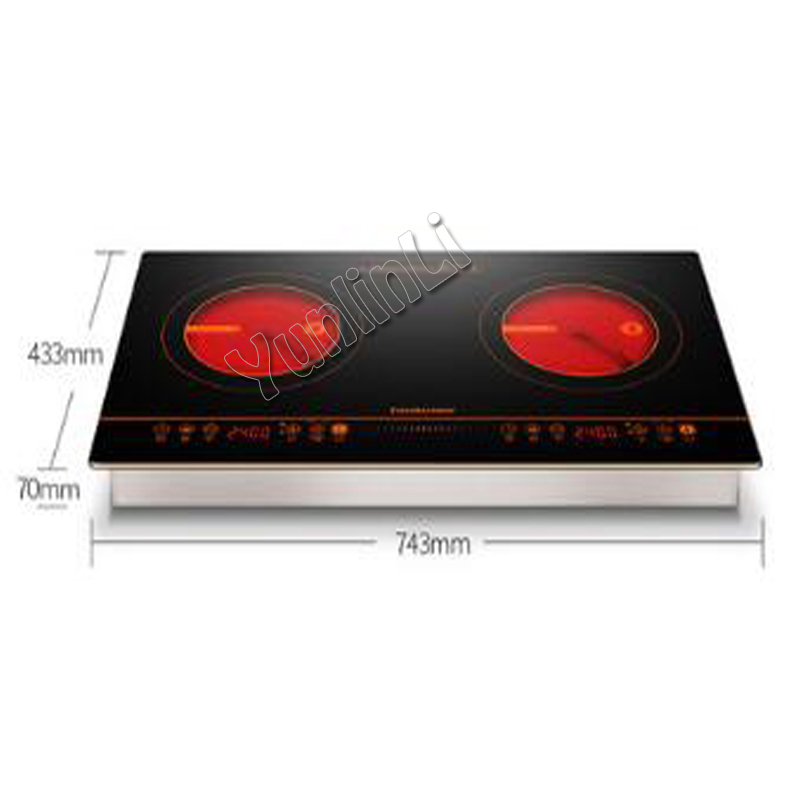 light wave heating cooker Bilateral induction cooker radiant-cooker household embedded radiant-cooker 2400W 400KB консилер absolute new york radiant cover 04 цвет 04 light medium neutral variant hex name b68161