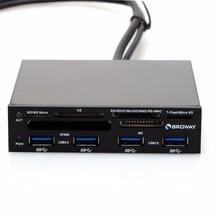 3,5 In Interne PCI-E PCI Express USB 3.0 HUB Kartenleser SD SDHC MMS XD M2 CF Speicherkarte Leser & Adapter