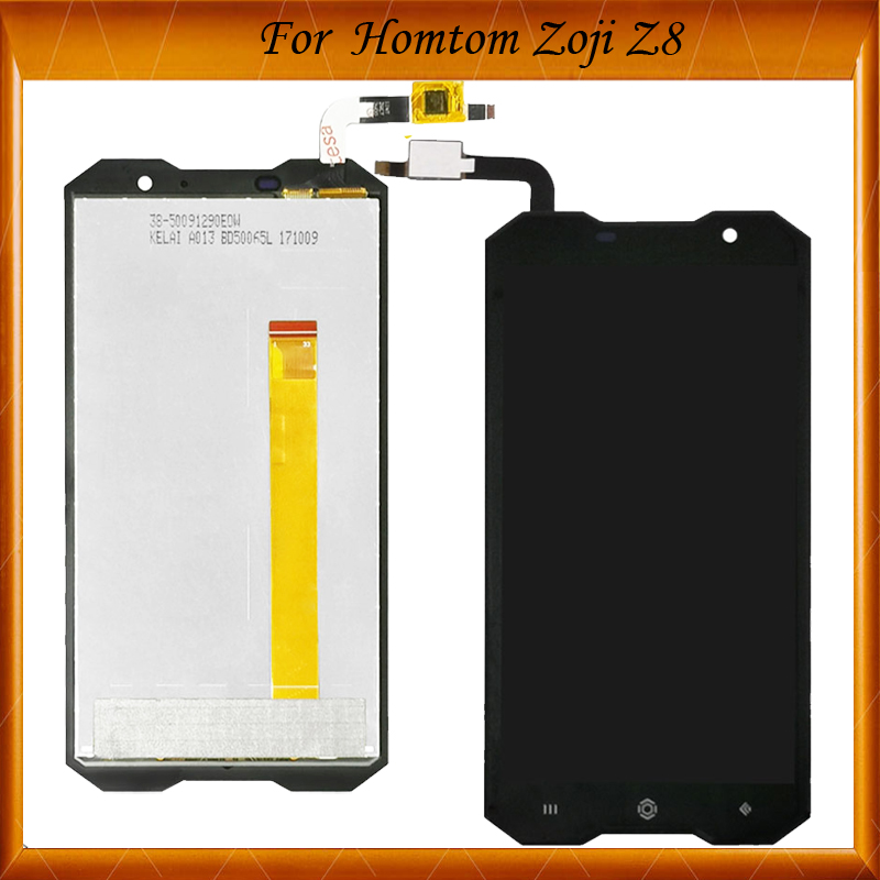 Top Quality 5.0 Inch For Homtom ZOJI Z8 LCD Display With Touch Screen Glass Digitizer Assembly Black Color
