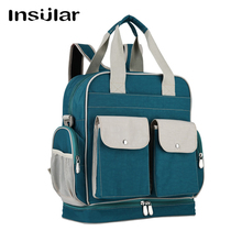 Insular Baby Travel Backpack Nylon Diaper Bag Large Capacity Mummy Stroller Pouch  mother Nursing Care