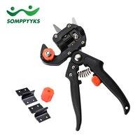 SOMPPYYKS Grafting Machine Garden Tools 2 Blades Tree Gardening Secateurs Scissors Professional Grafting Tool Cutting Pruner